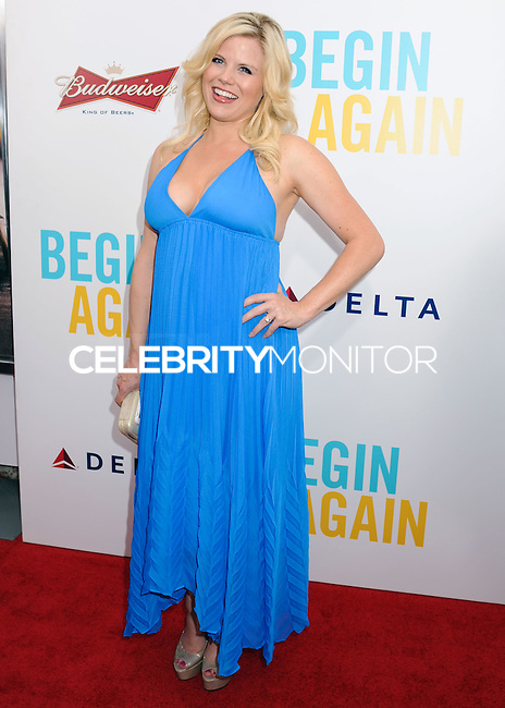 "NEW YORK CITY, NY, USA - JUNE 25: Actress Megan Hilty arrives at the New York Premiere Of The Weinstein Company's ""Begin Again"" held at the SVA Theatre on June 25, 2014 in New York City, New York, United States. (Photo by Celebrity Monitor)"