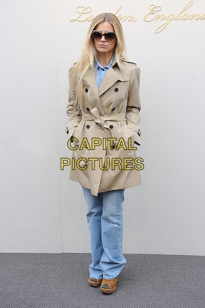 LONDON, ENGLAND - FEBRUARY 22: Laura Bailey attends the Burberry Prorsum Womenswear A/W 2016 fashion show on West Albert Lawns in Kensington Gardens on February 22, 2016 in London, England.<br /> CAP/BEL<br /> &copy;Tom Belcher/Capital Pictures