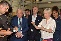 John Bercow MP and Frank Warren during a Press Call at The Boxing Academy on 21st June 2018
