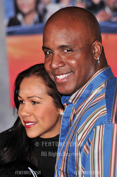 "Barry Bonds & wife at the world premiere of ""College Road Trip"" at the El Capitan Theatre, Hollywood..March 3, 2008  Los Angeles, CA.Picture: Paul Smith / Featureflash"