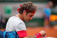 France, Paris, 01.06.2014. Tennis, French Open, Roland Garros, Roger Federer (SUI)  <br /> Photo:Tennisimages/Henk Koster