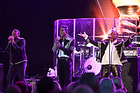 LONDON, ENGLAND - JUNE 7: Jackie Jackson, Jermaine Jackson and Marlon Jackson of 'The Jacksons' performing at Hampton Court Palace on June 7, 2019 in London, England.<br /> CAP/MAR<br /> ©MAR/Capital Pictures