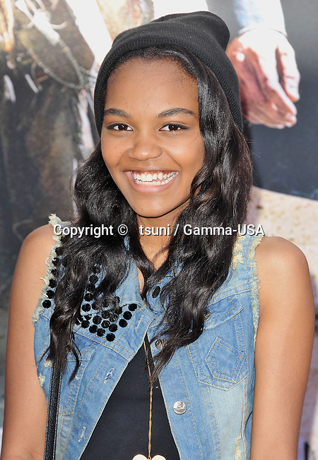 China Anne McClain  arriving at the Lone Ranger premiere at  the Disney California Adventure park in Anaheim.