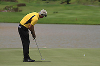 Daniel Chopra (SWE) takes his putt on the 18th green during Sundays Final Round 3 of the 54 hole Iskandar Johor Open 2011 at the Horizon Hills Golf Resort Johor, Malaysia, 19th November 2011 (Photo Eoin Clarke/www.golffile.ie)