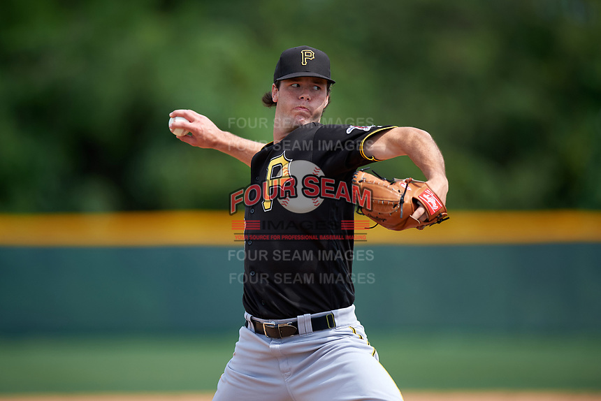 Pittsburgh Pirates Jake Burnette (22) during a minor league Spring Training intrasquad game on April 3, 2016 at Pirate City in Bradenton, Florida.  (Mike Janes/Four Seam Images)