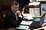 Nevada Sen. James Settelmeyer, R-Minden, works on the Senate floor at the Legislature in Carson City, Nev., on Thursday, March 17, 2011..Photo by Cathleen Allison