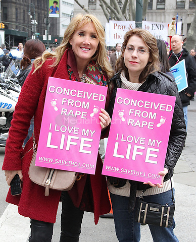 NEW YORK, NY - MARCH 25:  Participants at the International Gift of Life Walk, a pro-Life, anti-abortion event  in New York, New York on March 25, 2017.  Photo Credit: Rainmaker Photo/MediaPunch