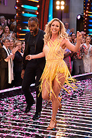 "Charles Venn and Faye Touzer<br /> at the launch of ""Strictly Come Dancing"" 2018, BBC Broadcasting House, London<br /> <br /> ©Ash Knotek  D3426  27/08/2018"