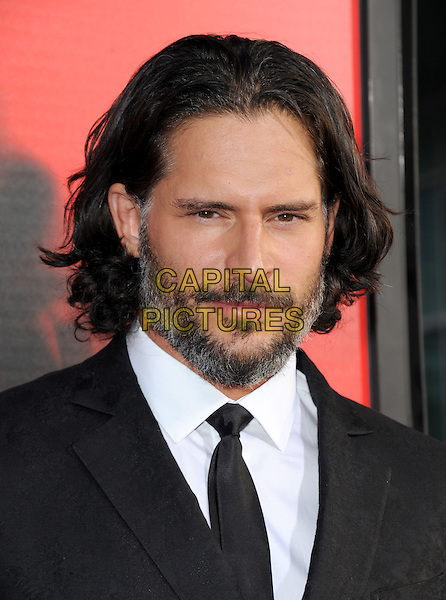 Joe Manganiello<br /> &quot;True Blood&quot; Season 6 Los Angeles Premiere held at The Cinerama Dome, Hollywood, California, USA.<br /> June 11th, 2013 <br /> headshot portrait black white shirt tie suit beard facial hair <br /> CAP/RKE/DVS<br /> &copy;DVS/RockinExposures/Capital Pictures