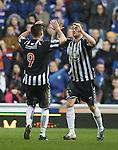 Elgin's Jamie Duff celebrates with Stewart Leslie