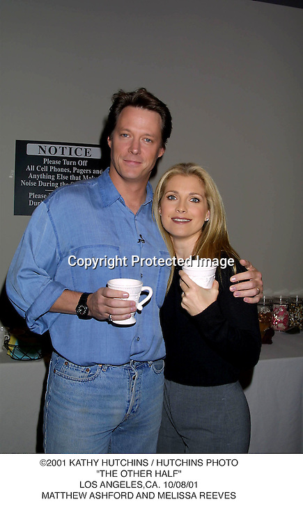 "©2001 KATHY HUTCHINS / HUTCHINS PHOTO.""THE OTHER HALF"".LOS ANGELES,CA. 10/08/01.MATTHEW ASHFORD AND MELISSA REEVES"