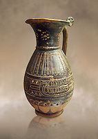 580 - 560 B.C olpai style jug made by the Etrusco-Corinthian Group of Palmette Fenicie, inv 71019,   National Archaeological Museum Florence, Italy