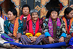 Bhutanese people at Paro Festival