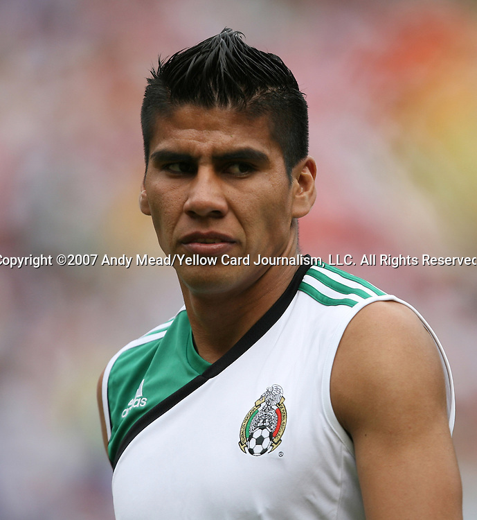 10 June 2007: Mexico's Carlos Salcedo. The Honduras Men's National Team defeated the National Team of Mexico 2-1 at Giants Stadium in East Rutherford, New Jersey in a first round game in the 2007 CONCACAF Gold Cup.