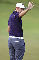 Matt Fitzpatrick (ENG) at the 4th green during Friday's Round 2 of the 117th U.S. Open Championship 2017 held at Erin Hills, Erin, Wisconsin, USA. 16th June 2017.<br /> Picture: Eoin Clarke | Golffile<br /> <br /> <br /> All photos usage must carry mandatory copyright credit (&copy; Golffile | Eoin Clarke)