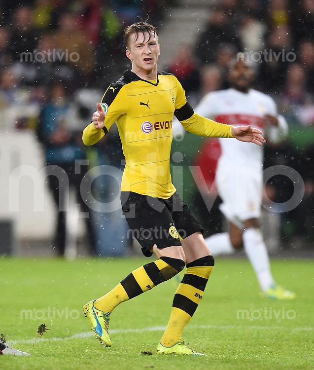 Fussball DFB Pokal Viertelfinale 2015/2016 08.02.2016 VfB Stuttgart - Borussia Dortmund Marco Reus (Borussia Dortmund) enttaeuscht