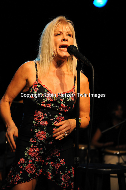 Ilene Kristen singing at her joint performance with Kathy Brier at The Triad on October 9, 2010 in New York City.