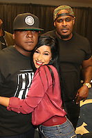 NEWARK, NJ - SEPTEMBER 25: Jadakiss, Cardi B and Sheek Louch pictured backstage at the Bad Boy Family Reunion concert at The Prudential Center in Newark, New Jersey on September 25, 2016. Credit: Walik Goshorn/MediaPunch