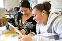 Sealth High School has many resources for students for whom  English is not their first language; these girls are in a space set aside for Hispanic students to do their homework.