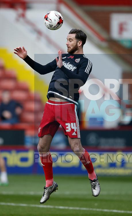 David Edgar of Sheffield Utd during the Sky Bet League One match at The Bramall Lane Stadium.  Photo credit should read: Simon Bellis/Sportimage