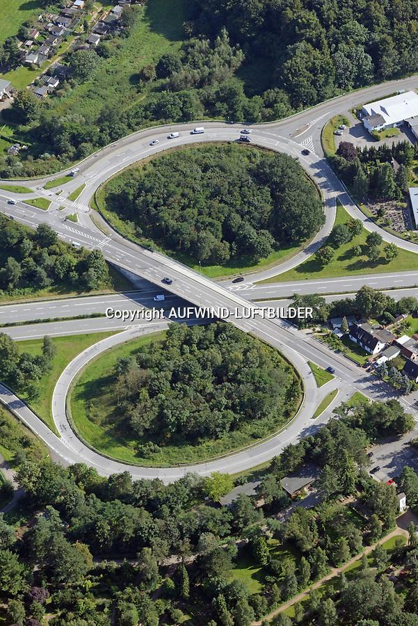 B75 Ausfahrt Kücknitz: DEUTSCHLAND, SCHLESWIG HOLSTEIN  23.08.2017: B75 Ausfahrt Kücknitz
