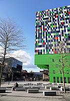 Utrecht Science Park. Casa Confetti op de De Uithof. In de woontoren bevinden zich 377 studentenwoningen. Het ontwerp is afkomstig van Architectenbureau Marlies Rohmer.