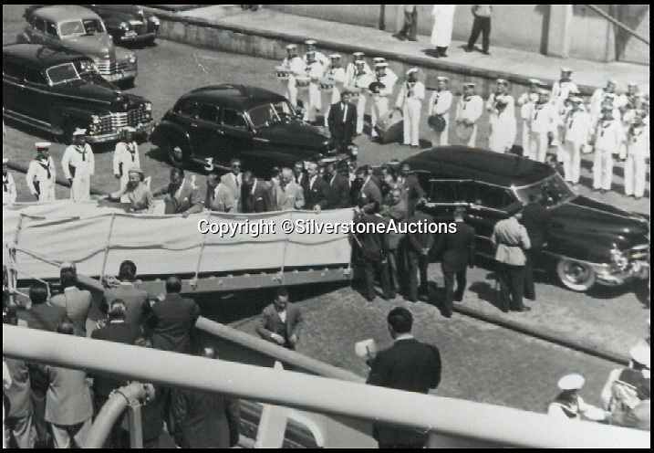 BNPS.co.uk (01202 558833)<br /> Pic: SilverstoneAuctions/BNPS<br /> <br /> ***Please Use Full Byline***<br /> <br /> The cadillac once owned by former Argentine president Juan Peron and his wife Eva. <br /> <br /> A luxury Cadillac limousine once owned by Eva Peron and her husband Juan, the former president of Argentina, has emerged for sale for 260,000 pounds.<br /> <br /> The jet black motor was used to drive Peron, known by the affectionate nickname Evita, and her husband around capital city Buenos Aires on state duties.<br /> <br /> The left-hand drive 1951 Cadillac boasts a 5.4-litre, eight cylinder engine and has a black leather bench seat in the front and a beige cloth seat in the back.<br /> <br /> Incredibly the 63-year-old car has just 3,489 miles on the clock.<br /> <br /> The car is expected to fetch 260,000 pounds when it goes under the hammer on behalf of its owner in a Silverstone Auctions sale on September 4.<br /> <br /> Also included in the sale is a jewel found inside the car when it arrived in the UK from Argentina. It is thought to have come from one of Evita's dresses.