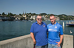 FC Luzern v St Johnstone...16.07.14  Europa League 2nd Round Qualifier<br /> Saints fans in the beautiful city of Luzern, pictured from left to right, Steve Walker and Mark Walker<br /> Picture by Graeme Hart.<br /> Copyright Perthshire Picture Agency<br /> Tel: 01738 623350  Mobile: 07990 594431