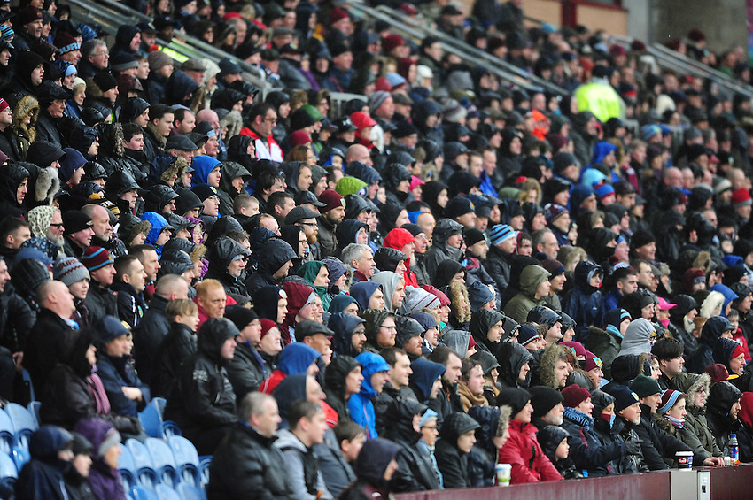 Burnley fans during the first half<br /> <br /> Photographer Chris Vaughan/CameraSport<br /> <br /> Football - The Football League Sky Bet Championship - Burnley v Hull City - Saturday 6th February 2016 - Turf Moor - Burnley <br /> <br /> &copy; CameraSport - 43 Linden Ave. Countesthorpe. Leicester. England. LE8 5PG - Tel: +44 (0) 116 277 4147 - admin@camerasport.com - www.camerasport.com