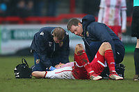 Injury concern for Alex Revell of Stevenage during Stevenage vs Luton Town, Sky Bet EFL League 2 Football at the Lamex Stadium on 10th February 2018