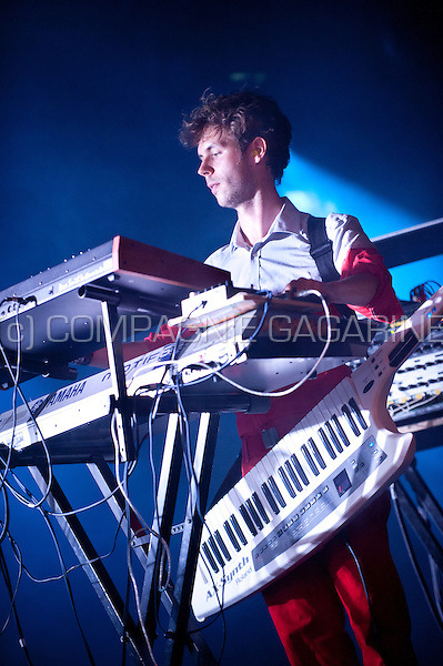 Concert of the Belgian electronic music producer Pomrad at the Gentse Feesten festival, in Ghent (Belgium, 26/07/2014)