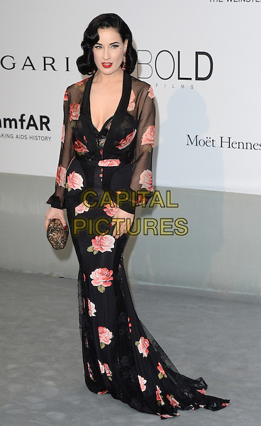 CAP D'ANTIBES, FRANCE - MAY 22: Dita Von Teese attends amfAR's 21st Cinema Against AIDS Gala, Presented By WORLDVIEW, BOLD FILMS, And BVLGARI at the 67th Annual Cannes Film Festival on May 22, 2014 in Cap d'Antibes, France. <br /> CAP/CAS<br /> &copy;Bob Cass/Capital Pictures