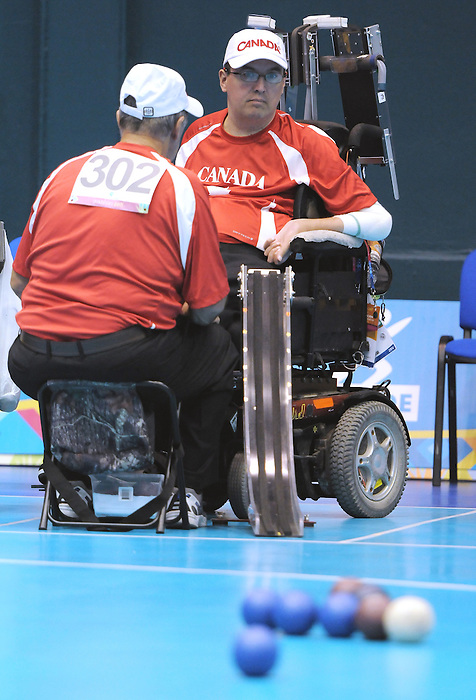 November 16 2011 - Guadalajara, Mexico: Martin Dubois during his Bronze Medal Match in the Multipurpose Gymnasium Revolución at the 2011 Parapan American Games in Guadalajara, Mexico.  Photos: Matthew Murnaghan/Canadian Paralympic Committee