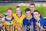 SUPPORTERS: CBS supporters, Tom Healy, Graham Higgins, John McGrath, Philip Stone and Mark OShea wait for the All Ireland Colleges Final to get underway in Croke Park on Sunday..
