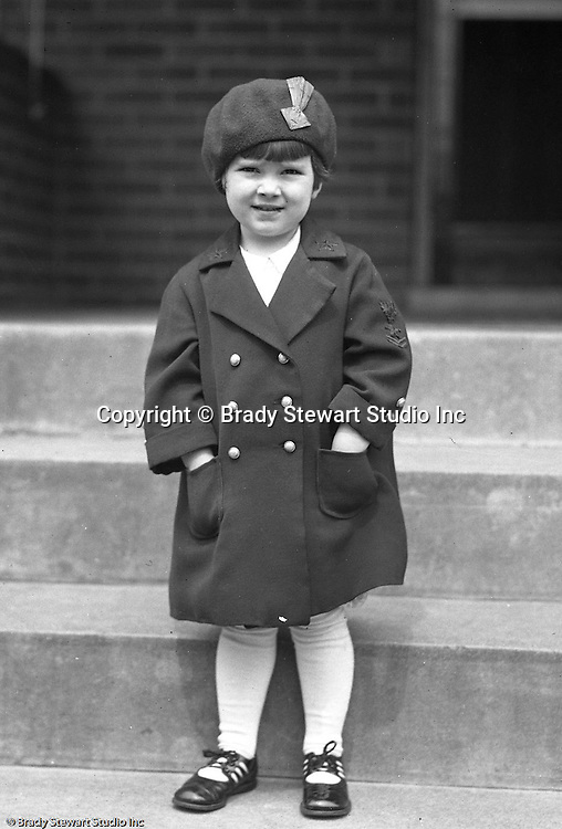 ilkinsburg PA: Sally Stewart dressed up for Sunday dinner at her grandparents - 1928.  Photo taken on the stoop at the Stewart house on 1007 East End Avenue in Wilkinsburg
