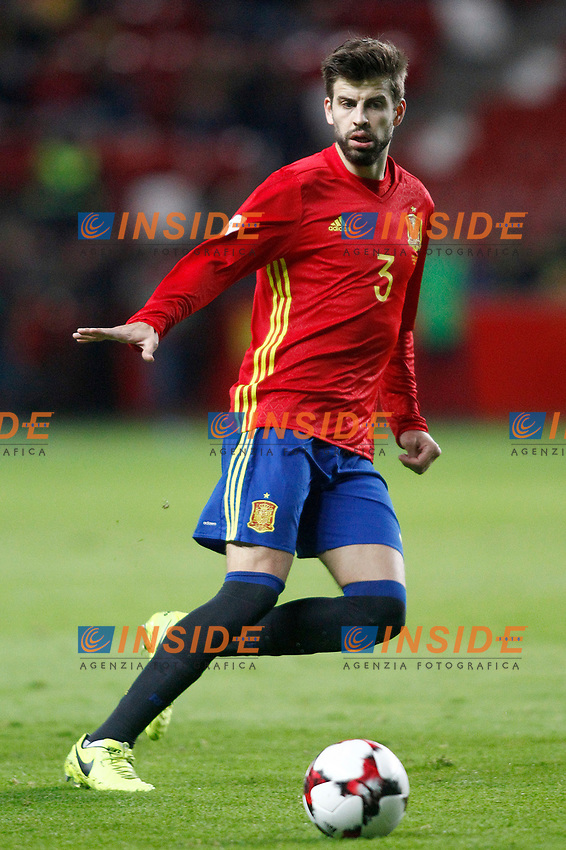 Spain's Gerard Pique during FIFA World Cup 2018 Qualifying Round match. <br /> Gijon 24-03-2017 Stadio El Molinon <br /> Qualificazioni Mondiali <br /> Spagna - Israele <br /> Foto Acero/Alterphotos/Insidefoto <br /> ITALY ONLY