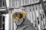 Challenge Mer et Montagne 2012, Saint Gervais les Bains, Mont Blanc, Haute Savoie, France..Ski Super Geant..Wilfried Forgues
