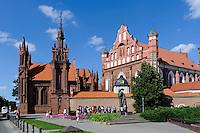 Gotisches Ensemble-St.Anna und Bernhardinerkloster in Vilnius, Litauen, Europa, Unesco-Weltkulturerbe