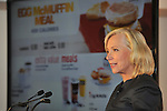 McDonald's USA President Jan Fields speaks during a press conference at the Newseum on Wednesday, September 12, 2012 in Washington. She announced that beginning next week, McDonald's will list calorie information on restaurant and drive-thru menus nationwide as part of the company's ongoing commitment to further inform and help customers and employees make nutrition-minded choices. (Larry French/AP Images for McDonald's)..
