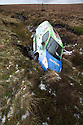 20/11/15<br /> <br /> A van lies in a ditch after coming off the road in wintery conditions on the Sake Pass A57 near Glossop high in the Derbyshire Peak District.<br /> <br /> All Rights Reserved: F Stop Press Ltd. +44(0)1335 418365   +44 (0)7765 242650 www.fstoppress.com