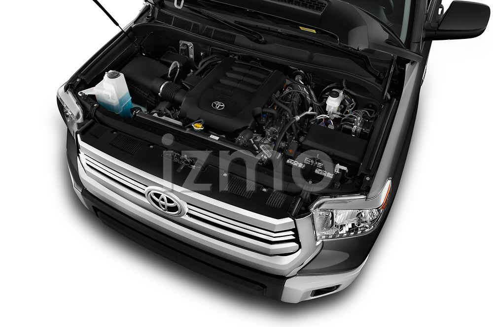 Car Stock 2016 Toyota Tundra SR-Crew 4 Door Pickup Engine  high angle detail view