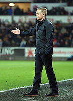 SWANSEA, WALES - MARCH 16: Swansea manager Garry Monk<br />