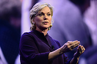 Washington, DC - March 4, 2018: Former Michigan Governor Jennifer Granholm addresses attendees of the 2018 American Israel Public Affairs Committee (AIPAC) Public Policy Conference at the Washington Convention Center March 4, 2018.  (Photo by Don Baxter/Media Images International)