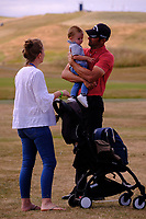 Alvaro Quiros (ESP) with the family during the fpreview of the Aberdeen Standard Investments Scottish Open, Gullane Golf Club, Gullane, East Lothian, Scotland. 11/07/2018.<br /> Picture Fran Caffrey / Golffile.ie<br /> <br /> All photo usage must carry mandatory copyright credit (&copy; Golffile | Fran Caffrey)