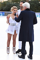Stephanie Waring &amp; Sylvain Longchambon with Phillips Schofield&nbsp;&nbsp; at the &quot;Dancing on Ice&quot; launch photocall at the Natural History Museum, London, UK. <br /> 19 December  2017<br /> Picture: Steve Vas/Featureflash/SilverHub 0208 004 5359 sales@silverhubmedia.com