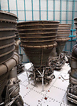 Kennedy Space Center, Florida - Tuesday January 16, 2018: Saturn V Engines.
