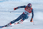 2/10/06 -- The 2006 Torino Winter Olympics -- Sestriere , Italy. -- Men's Downhill Training -- .USA team skier Bode Miller makes a turn on the downhill corse in Sestriere, Italy during the second training run...Photo by Scott Sady, USA TODAY staff.