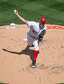 Washington Nationals starting pitcher Stephen Strasburg (37) works in the second inning against the Washington Nationals at Nationals Park in Washington, D.C. on Thursday, April 5, 2018.<br /> Credit: Ron Sachs / CNP<br /> (RESTRICTION: NO New York or New Jersey Newspapers or newspapers within a 75 mile radius of New York City)