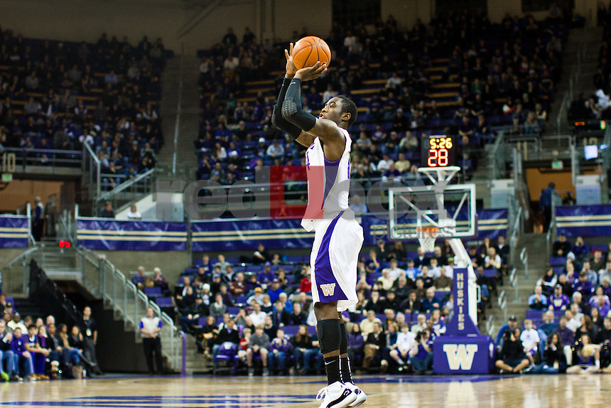 Tony Wroten..---Washington Huskies men's basketball against the California Golden Bears at Alaska Airlines Arena at Hec Edmundson Pavilion in Seattle on Thursday, January 19, 2012. (Photo by Dan DeLong/Red Box Pictures)