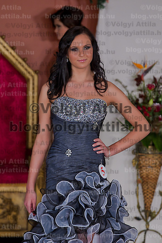 Antonia Csehi participates the Miss Hungary beauty contest held in Budapest, Hungary on December 29, 2011. ATTILA VOLGYI
